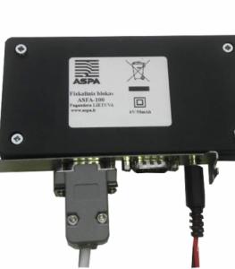 Kasos aparatas Kompiuterinė kasos sistema POS asFA 100