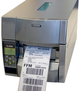Etikečių spausdintuvai, pramonei, prekybai CITIZEN CL-S700DT
